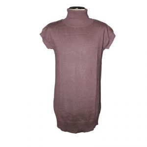 HV10FW084 Sleeveless long high neck Sweater Woman HEMP VALLEY ®