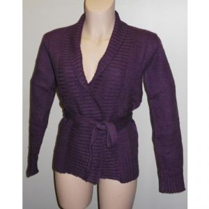 HV09FW063 Cardigan con cintura Donna HEMP VALLEY ®