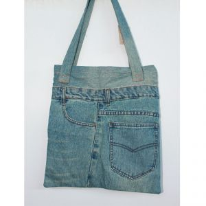Jeans Shoulder Bag Small HANDMADE