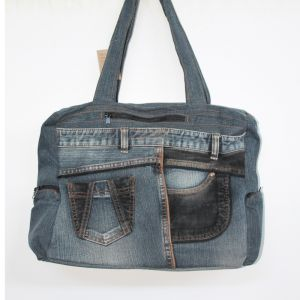 Jeans Shoulder Bag Large HANDMADE