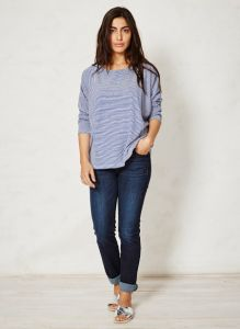 "BT16WST2612 T-shirt ""Magdalena Stripey"" Woman BRAINTREE ®"
