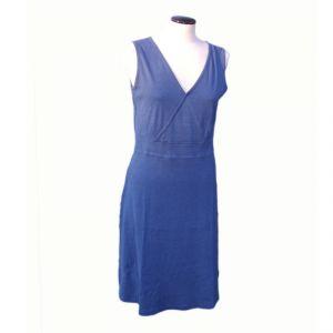 HV08FDR083 Sleeveless low-necked long Dress Woman HEMP VALLEY ®