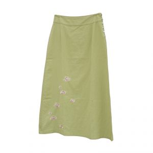HV07SK002 Long Skirt with embroidered flowers HEMP VALLEY ®