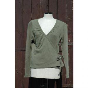 HV06JP003 Overlapping T-shirt Woman HEMP VALLEY ®