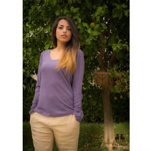 PFS079 Long sleeve necklace light jersey Sweater Woman PACINO ®