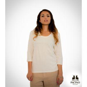 PFS079H Maglia a manica 3/4 con girocollo in jersey leggero Donna PACINO ®