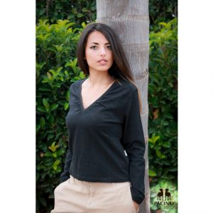 PTS2061 Long sleeve V-neck T-shirt Woman PACINO ®