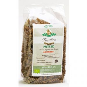Fusillini - Light Brown Rice and Hemp Organic Pasta GLUTEN-FREE 350g