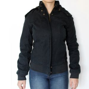 HV10FC081 Zipped Removable Hood Jacket Woman HEMP VALLEY ®