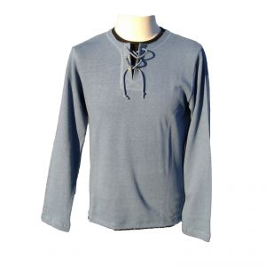 HV06TS977 T-shirt a manica lunga con lacci Uomo HEMP VALLEY ®