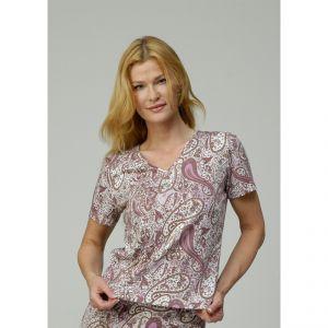 M305380 T-shirt a manica corta con motivo floreale Donna MADNESS ®