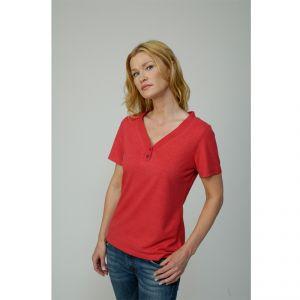 M539107 Short sleeve V-neck 2 bottos T-shirt Woman MADNESS ®