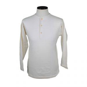 T-shirt serafino a manica lunga 100% Cotone Bio Uomo ECOSPORT ®