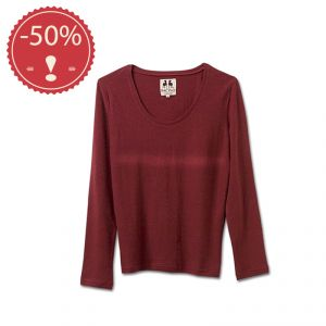 OU2PFS079 Maglia a manica lunga girocollo jersey leggero Donna OUTLET PACINO ® (*)