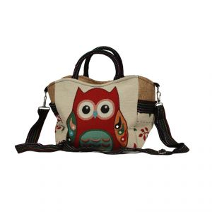 """Owl"" Cotton Bag l HANDMADE"