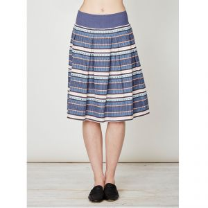 "T-17WSB3073 ""Abigail Stripe"" Hemp Skirt Woman THOUGHT ®"