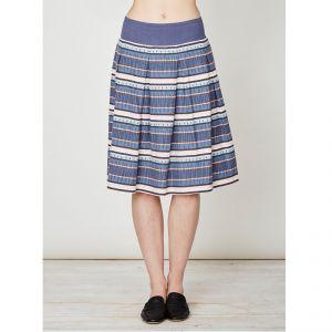 "T-17WSB3073 ""Abigail Stripe"" Hemp Skirt Woman THOUGHT ®"
