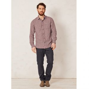 "T-17MWT2477 Camicia in canapa ""Jay Creek"" Uomo THOUGHT ®"