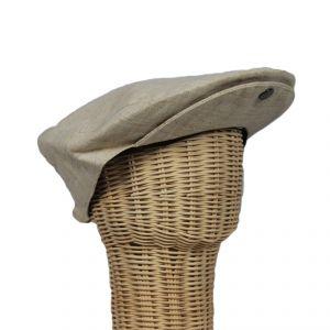 Flat Cap with clip visor 100% Hemp HANDMADE