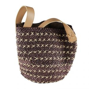 Sohulder Bag Hemp, Straw and Cotton HANDMADE