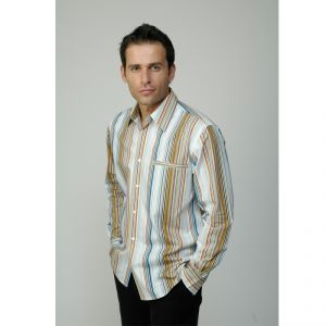 M303000P Camicia rigata a manica lunga Uomo MADNESS ®