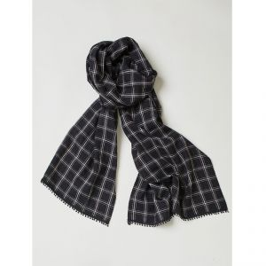 "T-17WAC3474 ""Harriet"" Hemp Scarf Unisex THOUGHT ®"