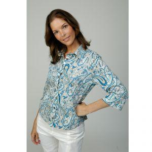 M305395 Camicia a manica 3/4 con motivo floreale Donna MADNESS ®