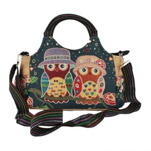 """Little Owl"" Cotton HandBag HANDMADE"