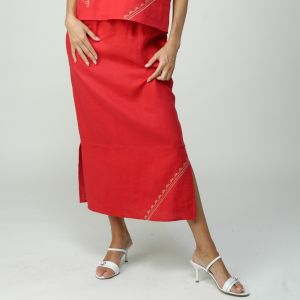 M1054 Linen Embroidered Skirt Woman MADNESS ®