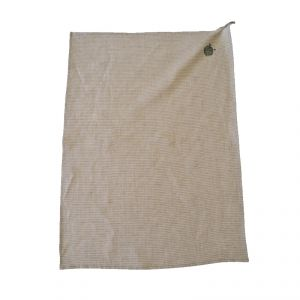 100% Hemp Rag color écru/green pinstripe AMBLEKODI ®