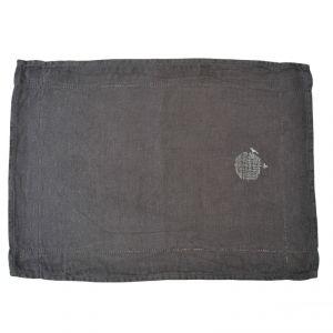 Tovaglia americana 100% canapa colore grigio (tinto in capo) AMBLEKODI ®