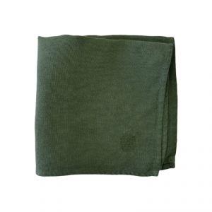 100% Hemp Rag color écru/green pinstripe