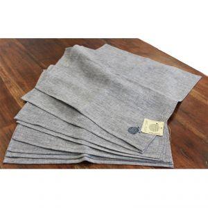 100% Hemp Set 8 Napkin color blue false plain AMBLEKODI ®