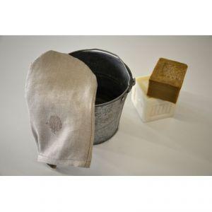 Guantino scrub 100% canapa colore naturale AMBLEKODI ®