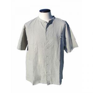 HV08SH2101 Camicia coreana a manica corta con bottoni e taschino Uomo HEMP VALLEY  ®