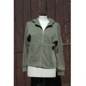 HV07JP002 Felpa con zip e cappuccio Donna HEMP VALLEY ®