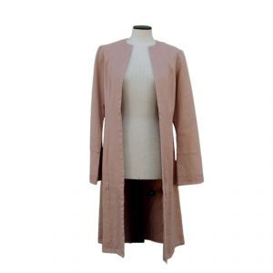 HV07JK003 Cardigan lungo con ricamo Donna HEMP VALLEY ®