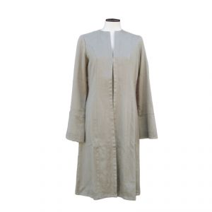 HV07JK003 Long Cardigan jacket with embroidery Woman HEMP VALLEY ®