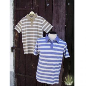 HV07TS976 Striped jersey Polo Man HEMP VALLEY ®