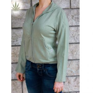 HV06JP988 Felpa con zip e cappuccio Donna HEMP VALLEY ®