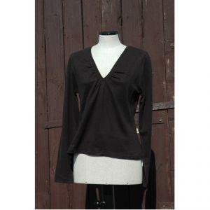 HV06TS2061 T-shirt scollata a manica lunga Donna HEMP VALLEY ®