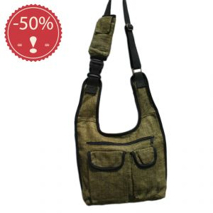 Hemp Multipocket Shoulder Bag Unisex HANDMADE (*)