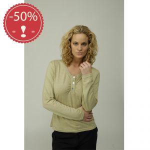 OUM539066 T-shirt a manica lunga 3 bottoni Donna MADNESS ® (*)