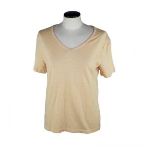 M739060 T-shirt collo a V a manica corta in bamboo Donna MADNESS ®