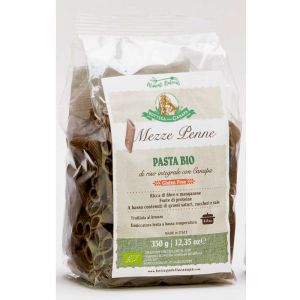 Mezze Penne - Light Brown Rice and Hemp Organic Pasta GLUTEN-FREE 350g