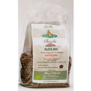 Chicchi - Light Brown Rice and Hemp Organic Pasta GLUTEN-FREE 500g