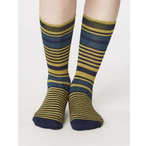 "T-SPW257 ""Imogen Striped"" Socks Woman THOUGHT by BRAINTREE ®"