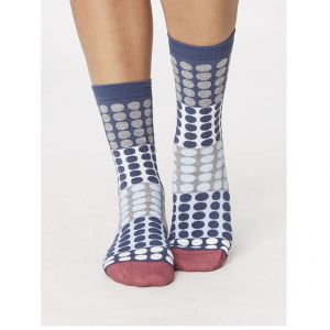 "T-SPW241 ""Eva Checkered"" Socks Woman THOUGHT by BRAINTREE ®"