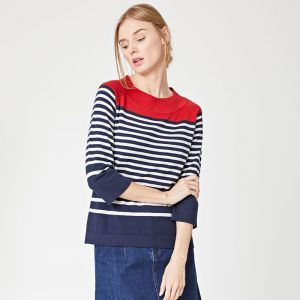 "T-18WST3490 ""Erika Sail La Vie Knit"" Jumper Woman THOUGHT ®"