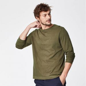 "T-18MWT3961 ""Hamlin"" Long Sleeve Hemp Tee Man THOUGHT ®"